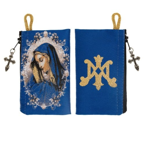 Our Lady of Sorrows Rosary Pouch
