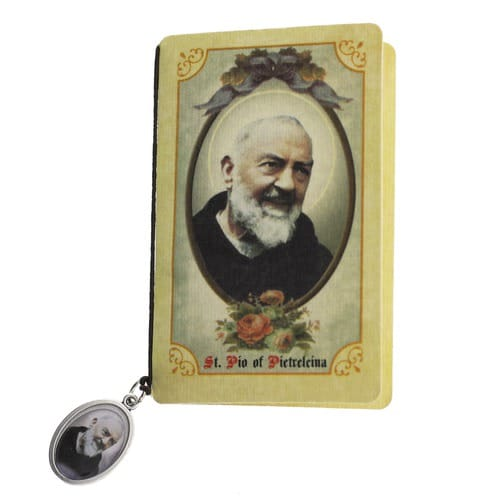 St. Pio Folded Prayer Card with Medal, traditional catholic stores, catholic store, shop, tradcatfem, Padre pio, padre pio feast day, padre pio quotes, padre pio prayer, what did padre pio die of, what is padre pio the patron saint of, padre pio miracles, padre io facts, padre pio stigmat