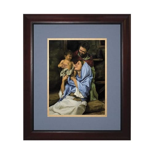 Holy Family II (Matted w/ Cherry Frame)