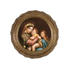 Madonna Of The Chair Office Max Chairs By Raphael On Canvas W Ornate Gold Frame Catholic Company
