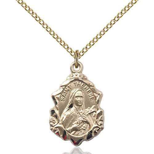 14kt Gold Filled St. Therese of Lisieux Pendant
