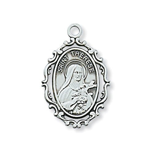 Sterling Silver St. Therese Pendant