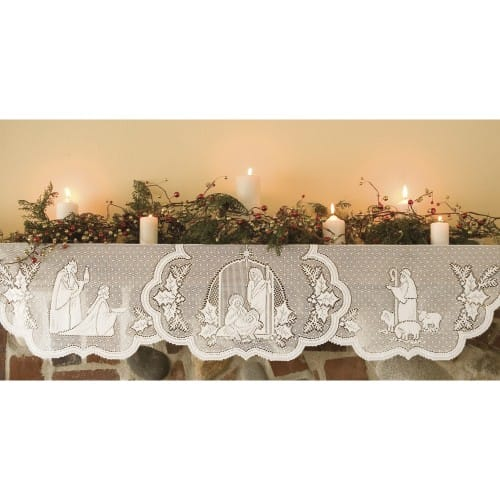 Silent Night Mantle & Table Drape