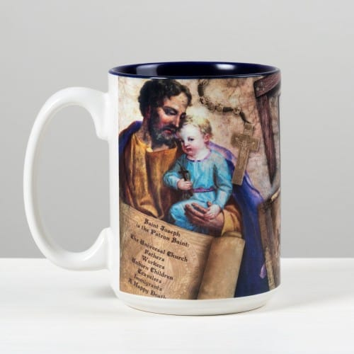 St. Joseph Story Mug, st joseph, st joseph facts, st joseph feast day, catholic prayer to st joseph, catholic church st joseph the worker, st joseph catholic books and gifts, st joseph scapular, st joseph brown scapular, st joseph rosary, t joseph rosary prayer, st joseèh rosary beads, st joseph chaplet, st joseph statue, st joseph statue to sell house, st joseph statue for real estate, st joseph sleeping statue, st joseph books, st joseph medal, st joseph medal necklace, st joseph traditional, prayer, novena, litany, st joseph feast day,