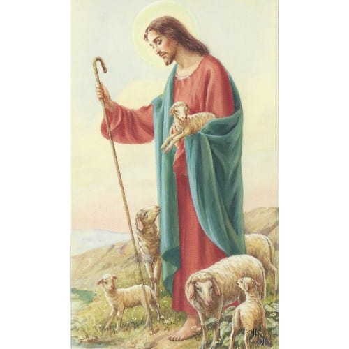 The Good Shepherd Personalized Prayer Card Priced Per