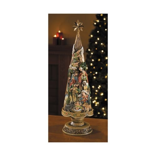 Nativity Christmas Tree Figurine 20  The Catholic Company