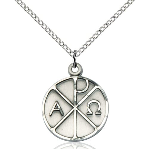 Sterling Silver Alpha & Omega Pendant  The Catholic Company