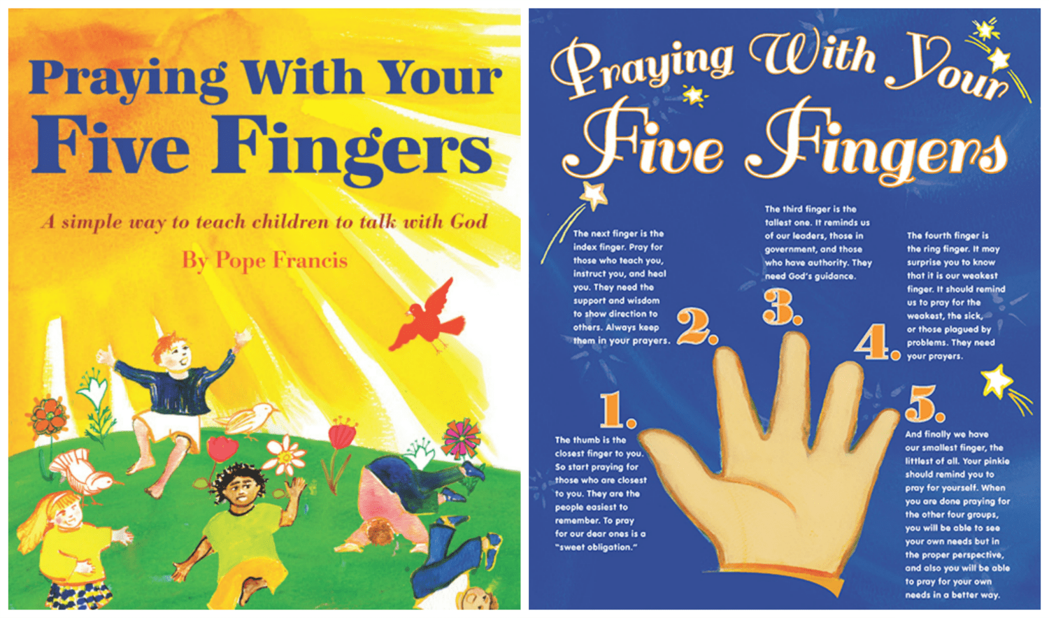 Teaching Kids How To Pray Pope Francis Five Finger Method