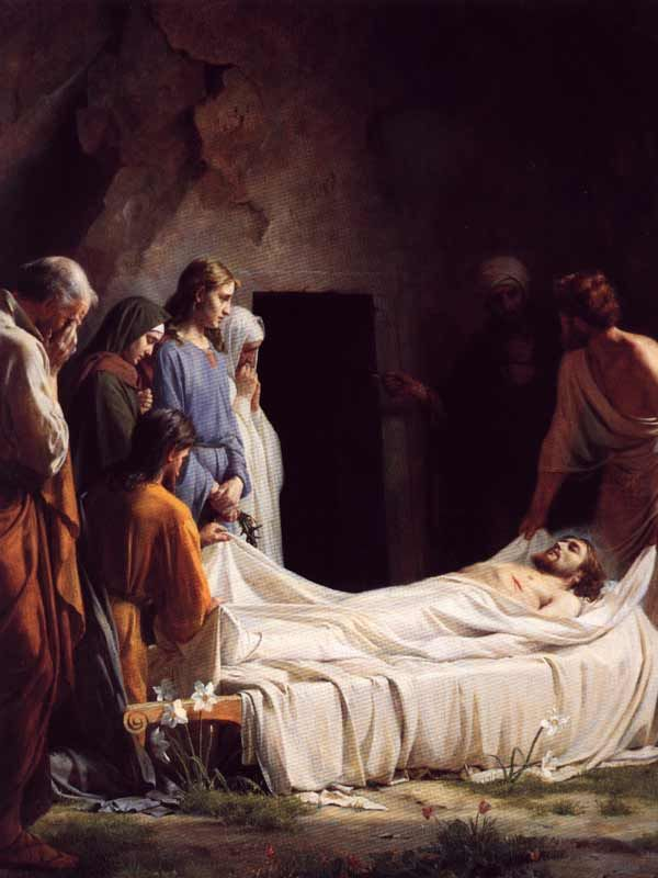 The Burial of Jesus by Carl Bloch
