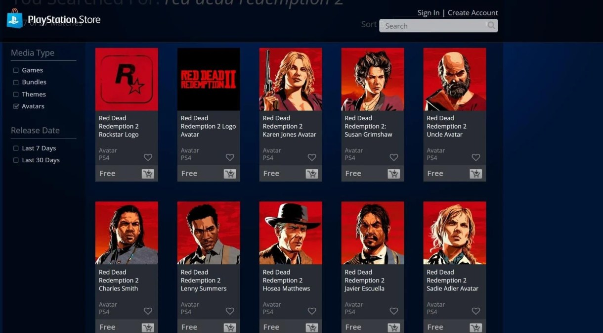 Image result for Red Dead Redemption 2 avatar psn