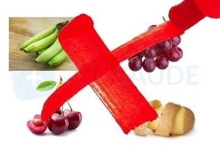 Alimentos proibidos na fase 3