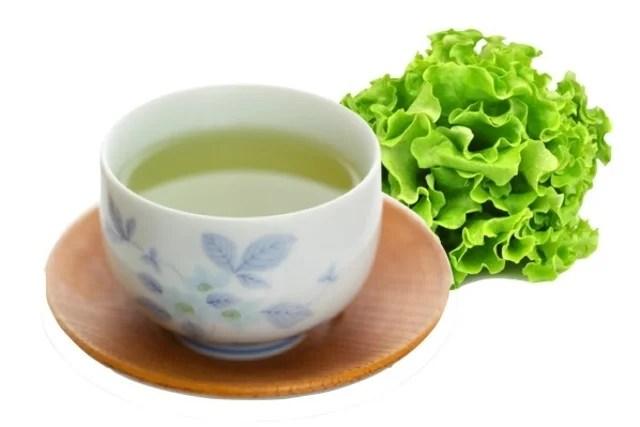 Chá de alface para dor de estômago