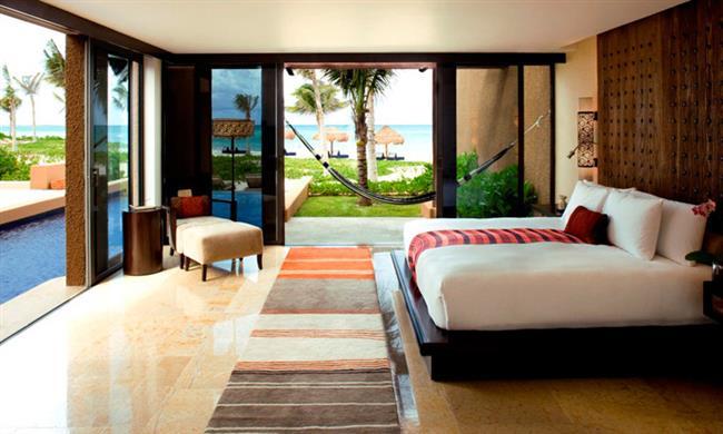 Da cama para a gua  25 desejados quartos com piscina