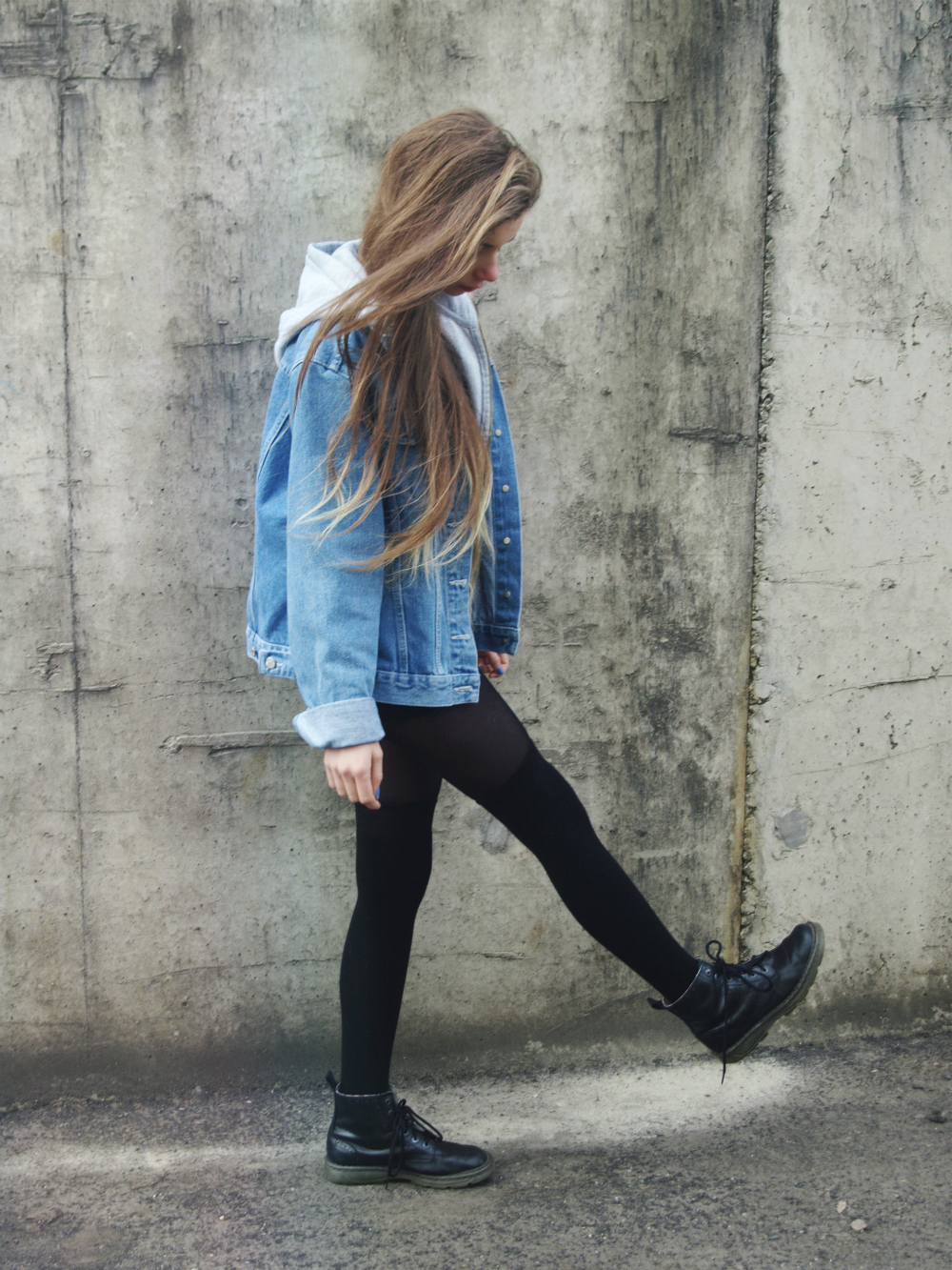 jean shirt outfits tumblr