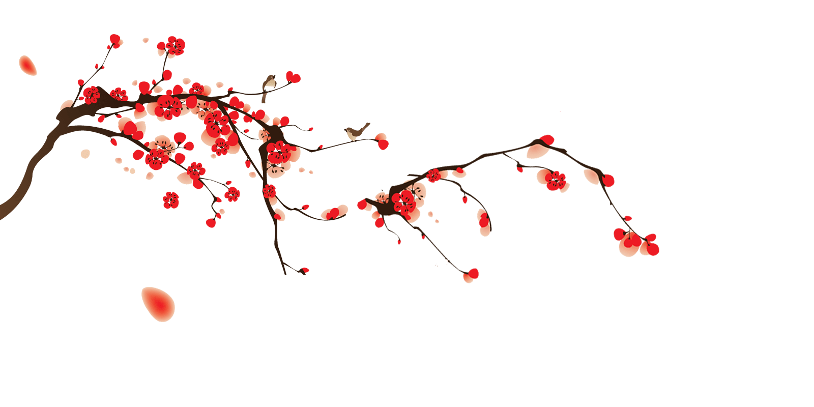 Falling Cherry Blossoms Wallpaper きまぐれ