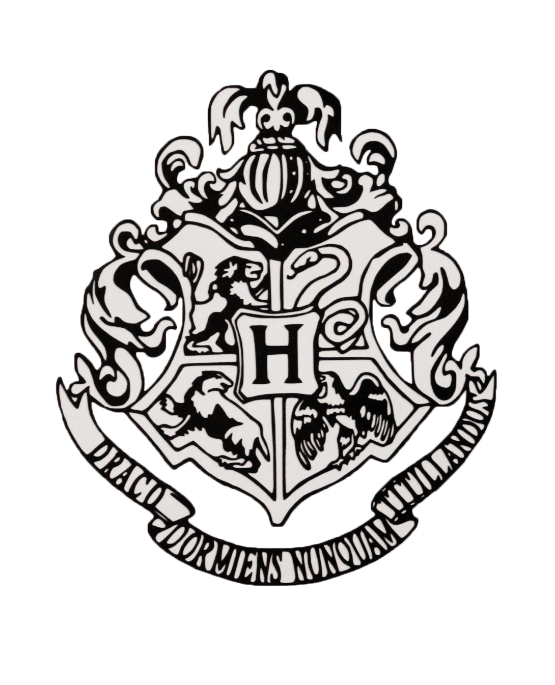 B Emblem From Harry Potter Coloring Book