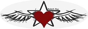 Robert Run, Wings = universal consciousness, star = individual consciousness, heart = practice