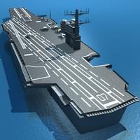 aircraft carrier diagram emg wiring solder uss reagan cutaway 3d obj
