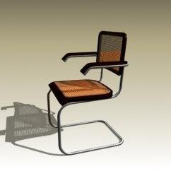 Marcel Breuer Cesca Chair With Armrests Pink Velvet Armchair Australia 3d Model