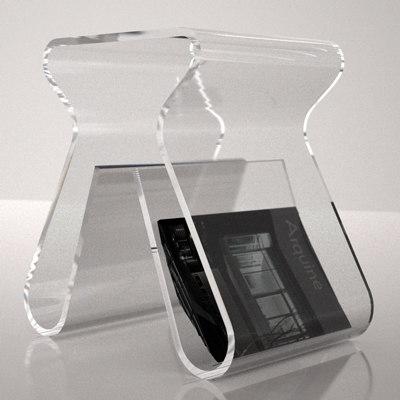 magino acrylic stool magazine rack 3d model
