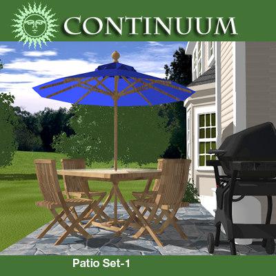 patio set chairs table umbrella max