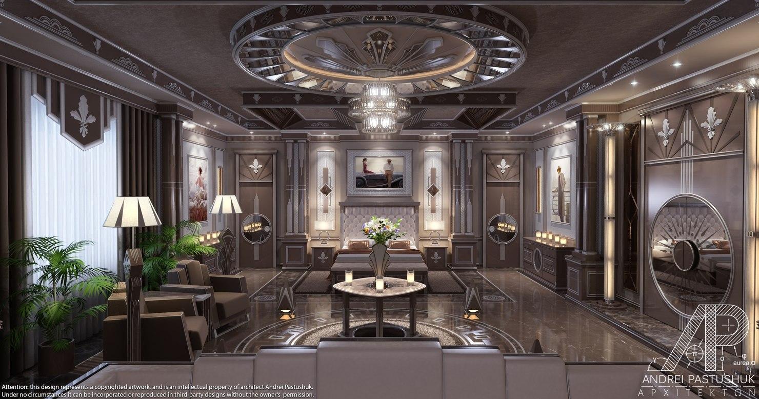3d Art Deco Bedroom Luxury Model 1142745 Turbosquid