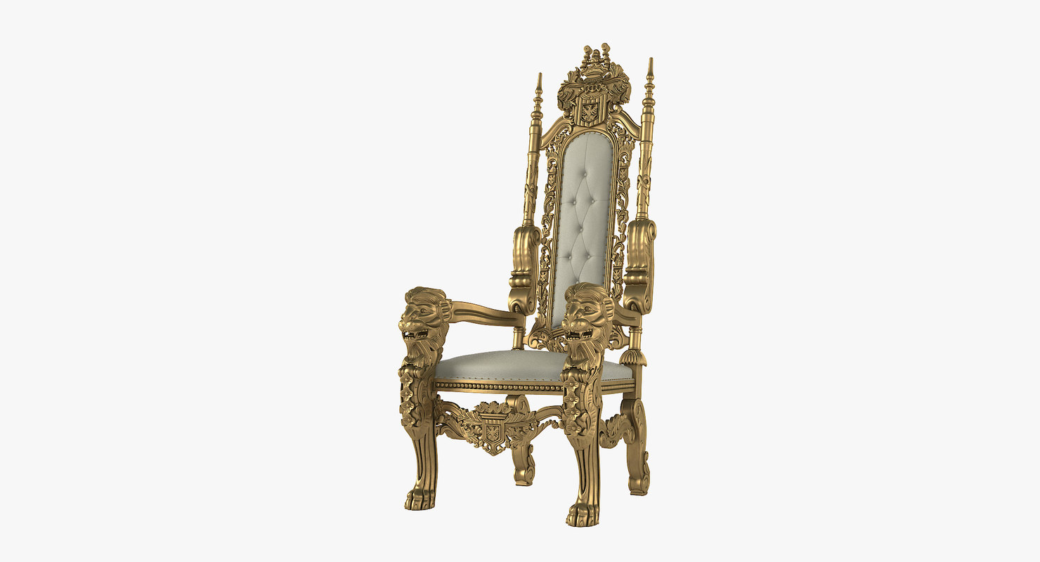 game of thrones office chair wooden garden chairs b q 3d lion king throne model turbosquid 1160042