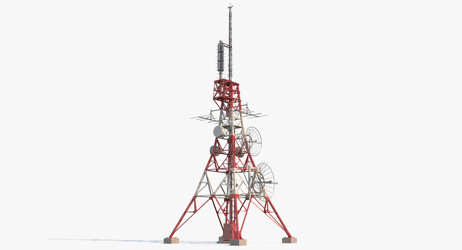 3d Model Telecommunication Tower