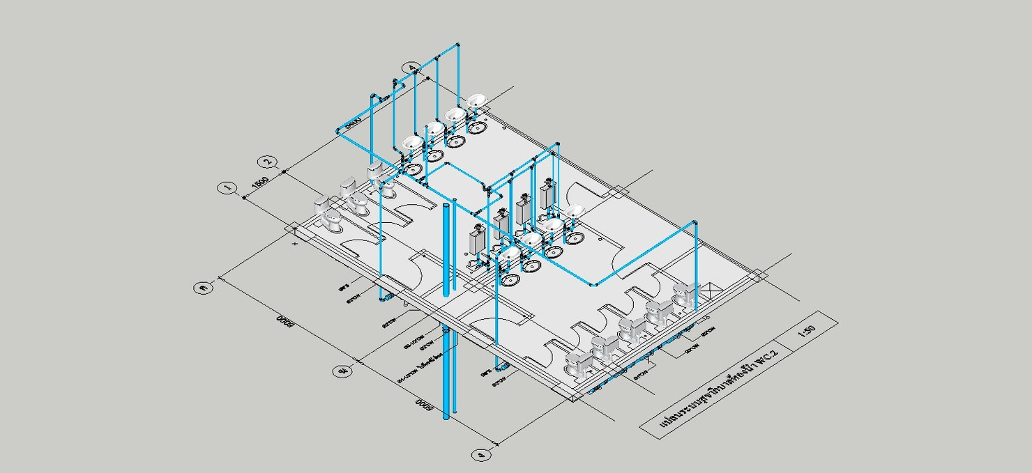 hight resolution of  sanitary pvc pipe fitting 3d