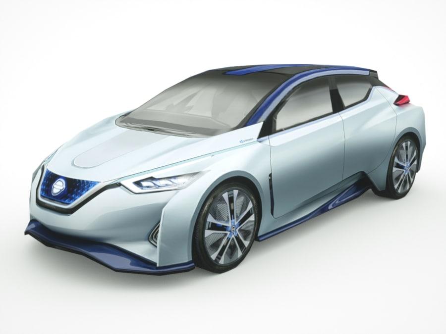 Nissan Ids Leaf 3d Model Turbosquid 1164968
