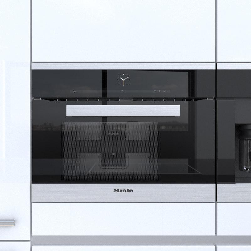 miele kitchen appliances work station set 3d model turbosquid 1165340