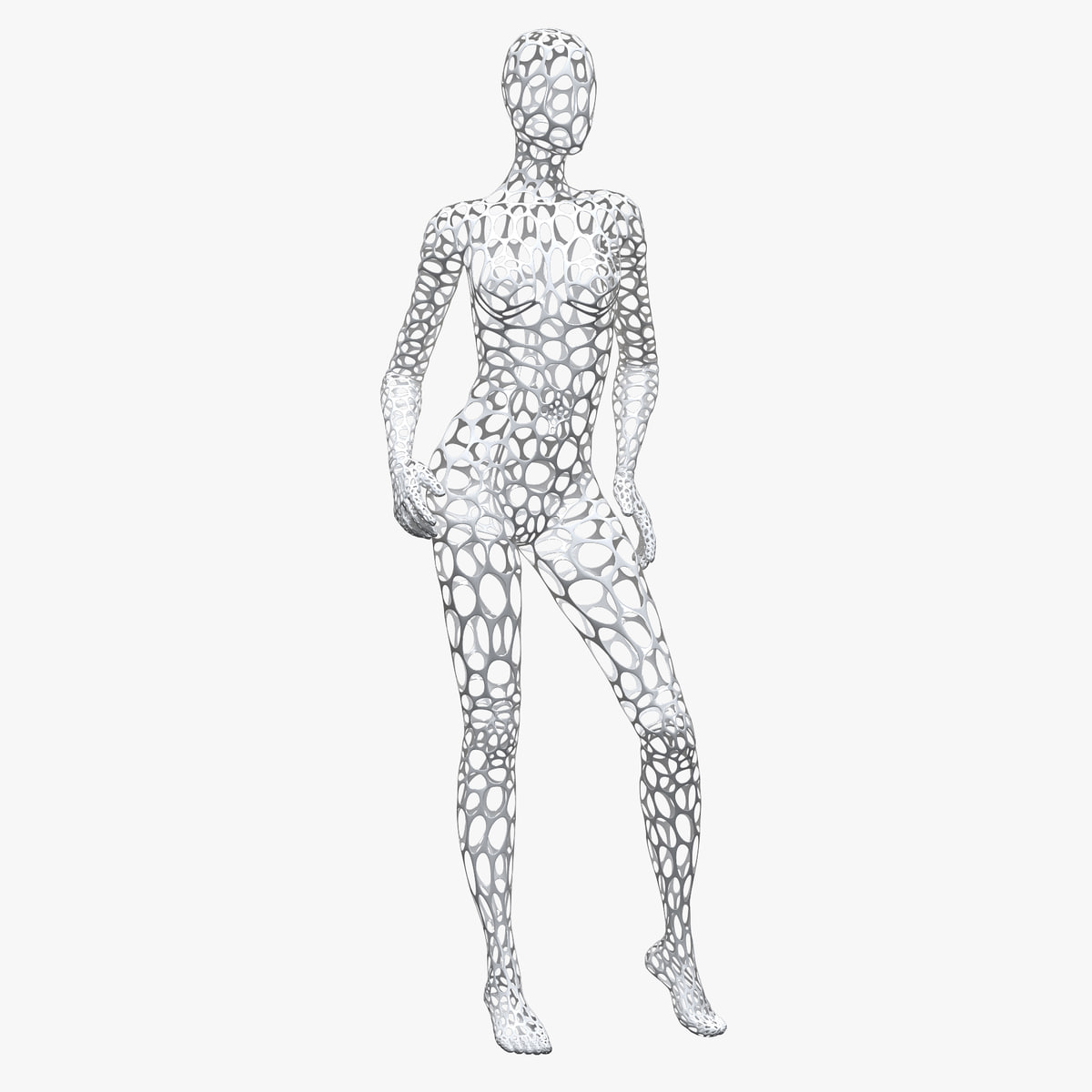3d Model Female Wire Mannequin