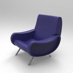 Chair Design Model Stackable Garden Covers Marco Zanuso Lady 3d Turbosquid 1174197