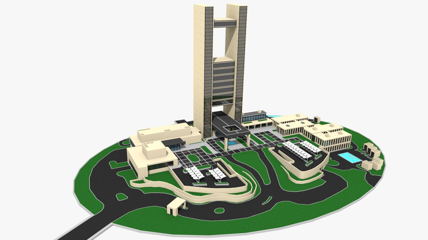Seasons Hotel Bahrain 3D Model TurboSquid 1178409