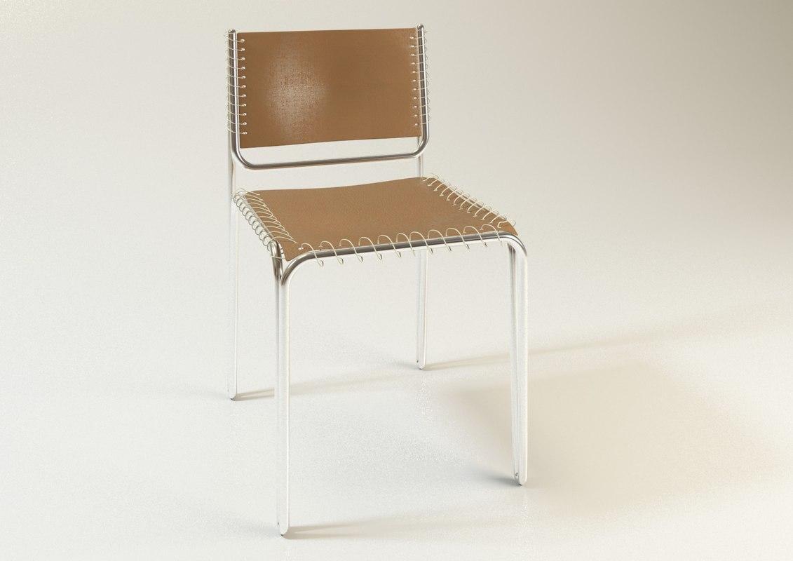 chair design model girls room 3d steel turbosquid 1186137