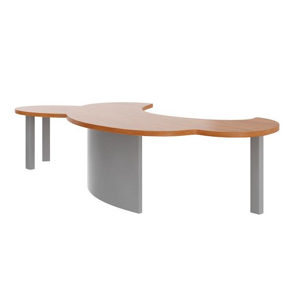 Large Office Desk 3d Model Turbosquid 1186641