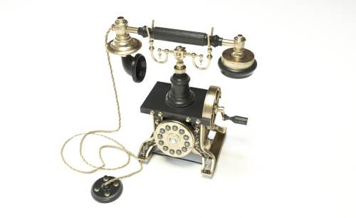 small resolution of 3d telephone phone old
