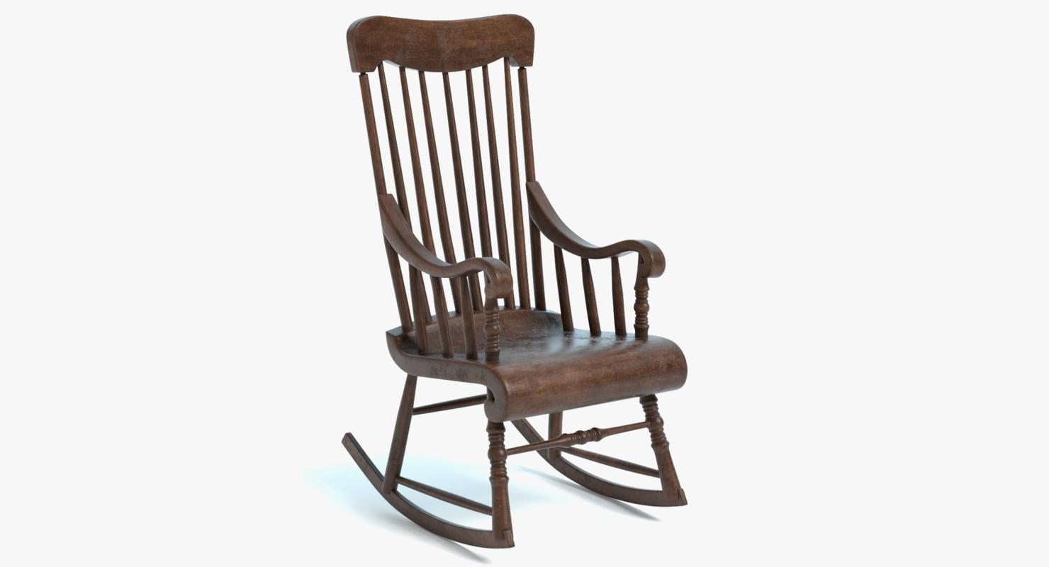 Old rocking chair 3D model  TurboSquid 1194691