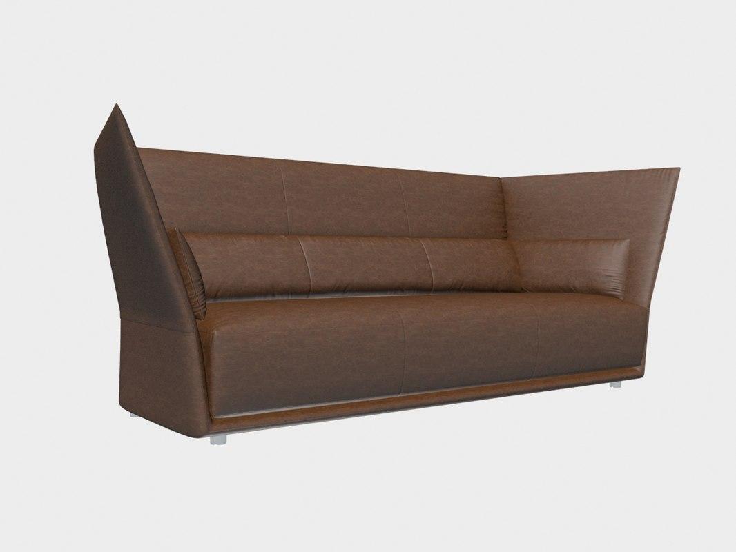 poltrona frau sofa review purple sectional chaise almo 3d model turbosquid 1197231