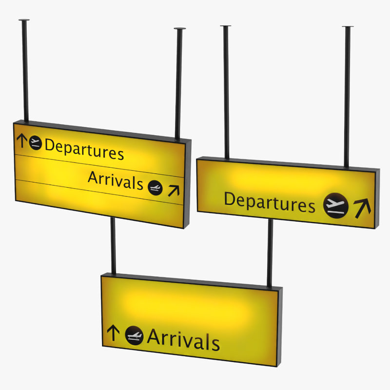 departure and arrival signs