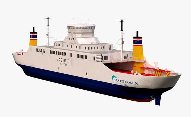 Basto Fosen Car Ferry Model Turbosquid 1202463