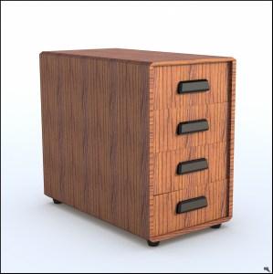 Free Rolling Cabinet 3d Model Turbosquid 1205836