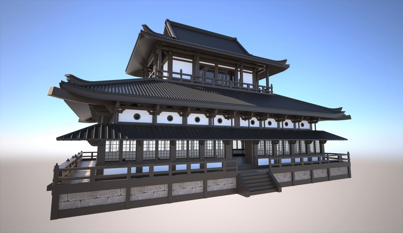 Traditional japanese temple 3D model  TurboSquid 1206031