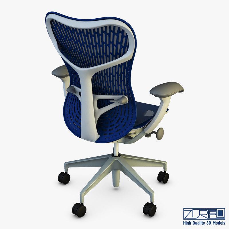 mirra 2 chair bed herman miller 3d model turbosquid 1211519