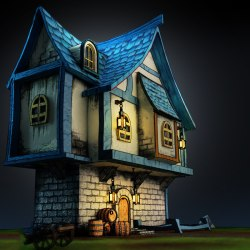Medieval fantasy house 3D TurboSquid 1213552