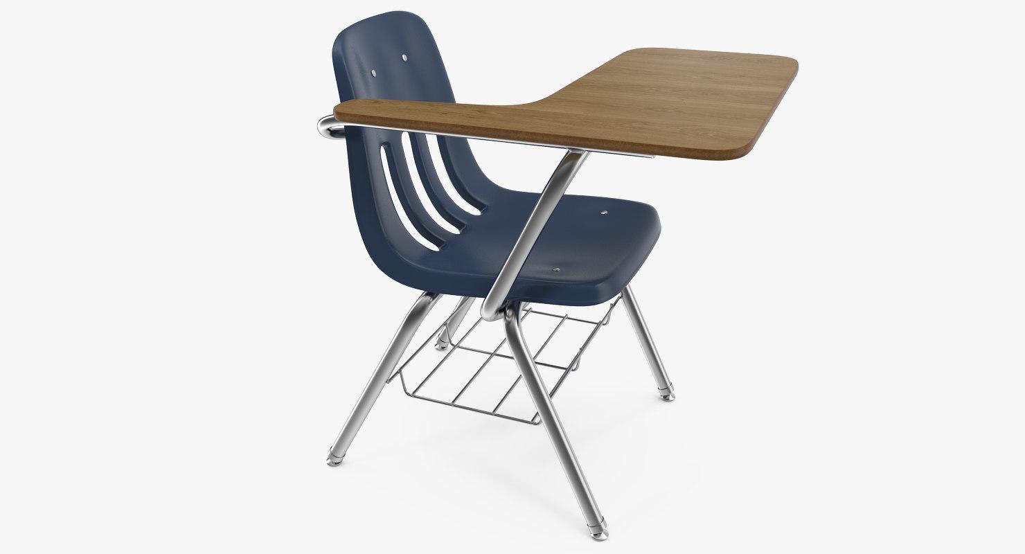School desk chair 3D model  TurboSquid 1222969