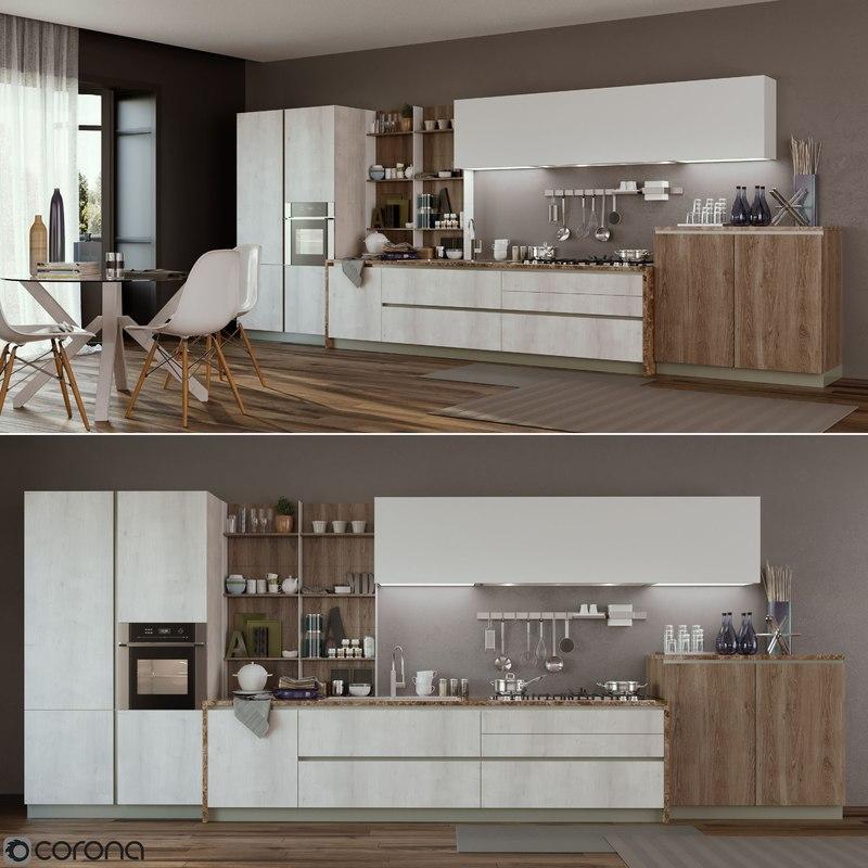 Kitchen infinity stosa 3D model  TurboSquid 1223090