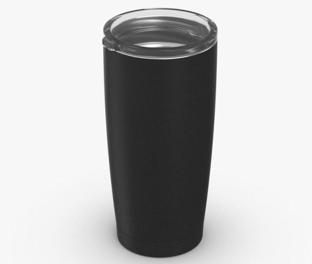 D Coffee Travel Mug Mockup