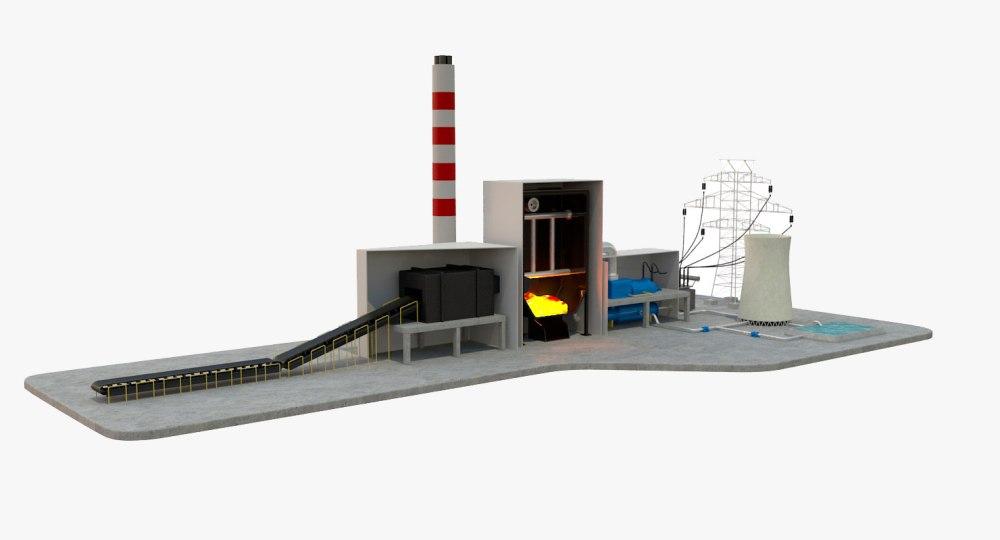medium resolution of 3d model coal power station diagram