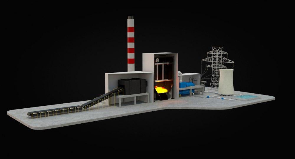 medium resolution of coal power station diagram 3d model